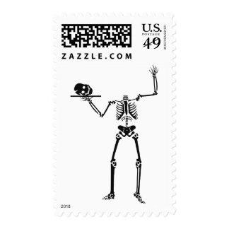 Kooky Skeleton Bones Funny Halloween Stamp