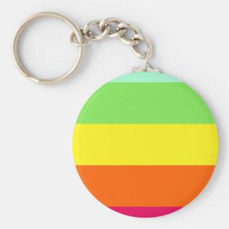 Kool Aid Cool Down Color Stripes Keychain