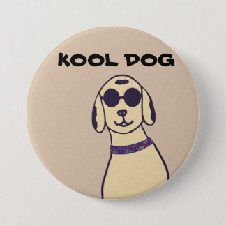 Kool Dog In Shades Button