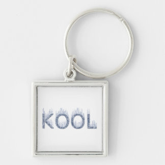 Kool - Ice Cold Luggage Tag Baggage Tag Laptop Bag Silver-Colored Square Keychain