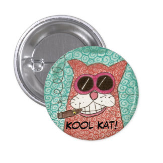 ¡Kool Kat! botón Pin Redondo De 1 Pulgada