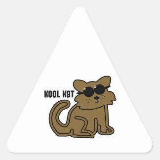Kool Kat Calcomanía De Triangulo Personalizadas