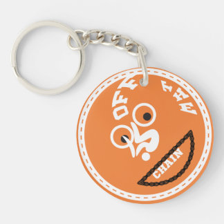 Kool Key change for biking lovers Double-Sided Round Acrylic Keychain