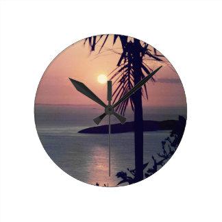 Koolan Sunrise Round Clock