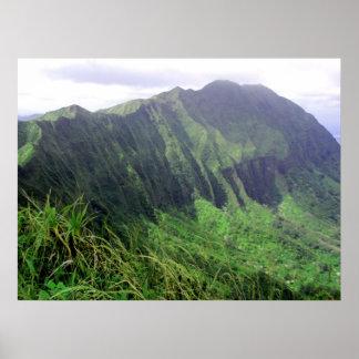 Ko'olau Mountain Ridge Poster