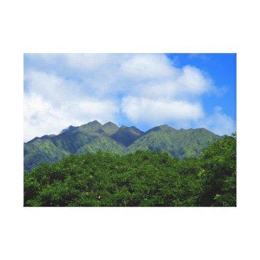 Hawaiian Themed Koolau Mountains Canvas Print