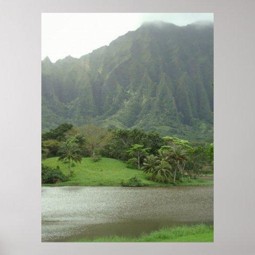 Ko'olau mountains poster