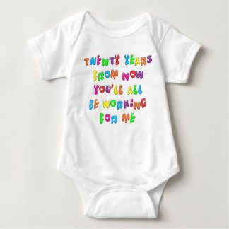 KoolKidZnCo Cute KIDZ Ambitious Saying Baby Bodysuit
