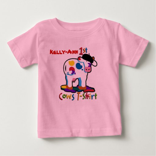 KoolKidZnCo Cute Personalize Name My First Cows T Shirts
