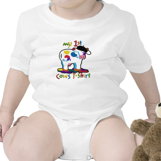 KoolKidZnCo lindo mi primera camiseta de las vacas