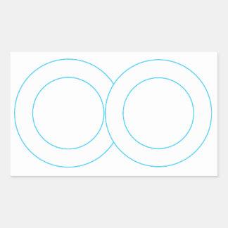 KOOLshade  STICKERs BORDER - Greetings Lables XMAS Rectangular Stickers