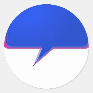 KOOLshades BLUE Talk Bubble - Bulk Discount pricin Classic Round Sticker