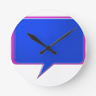 KOOLshades BLUE Talk Bubble - Bulk Discount pricin Wall Clock