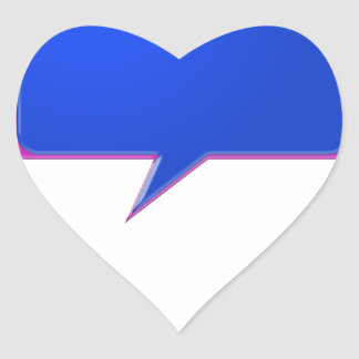 KOOLshades BLUE Talk Bubble - Bulk Discount pricin Heart Sticker