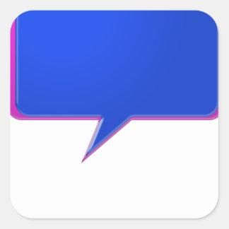 KOOLshades BLUE Talk Bubble - Bulk Discount pricin Square Sticker