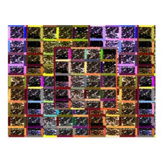 KOOLshades CHECKEReD Celebration Sparkle Postcard