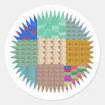 KOOLshades: CHISPA del remiendo de la tela Etiqueta
