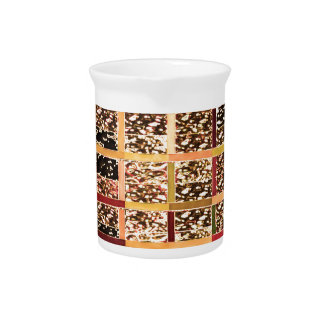 KOOLshades Deco : Checkered Glitter Gold Sparkle Drink Pitcher
