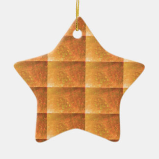 KoolShades HealingStone  A101 TEMPLATE Text Image Double-Sided Star Ceramic Christmas Ornament
