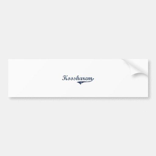 Koosharem Utah Classic Design Bumper Stickers