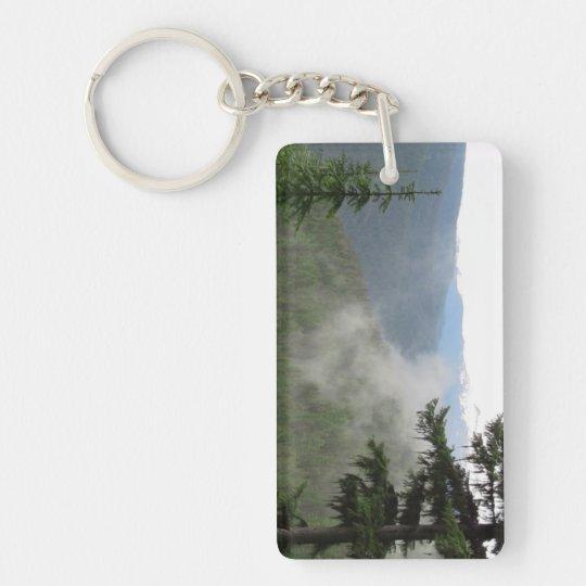 Kooskooskia Idaho Landscape Skyscape Waterscape Keychain