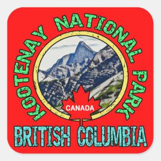 Kootenay National Park, British Columbia Square Sticker