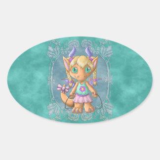 Kootie Patootie 1 Izzie Oval Stickers