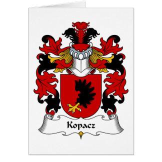 Kopacz Family Crest Greeting Card