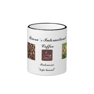 Kopi Luwak coffee Ringer Coffee Mug