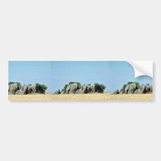 Kopjes en Serengeti Etiqueta De Parachoque