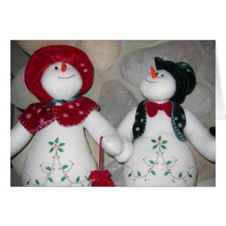 Koppel sneeuwpoppen a de Op. Sys. schouw Tarjeta De Felicitación