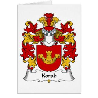 Korab Family Crest Greeting Card