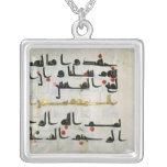 Koran, siglo IX, califato de Abbasid Colgante Cuadrado