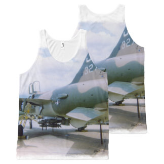 Korat AFB Thailand 1968 F-105 All-Over-Print Tank Top