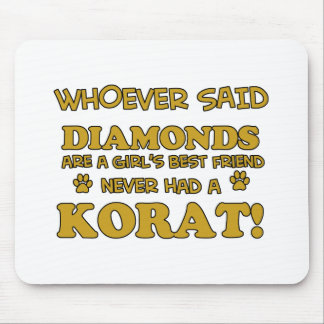 Korat Cat breed designs Mouse Pad