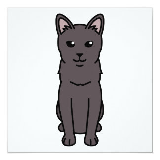 Korat Cat Cartoon Card