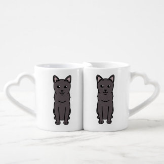 Korat Cat Cartoon Couples' Coffee Mug Set