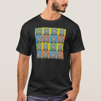 Korat Cat Cartoon Pop-Art T-Shirt
