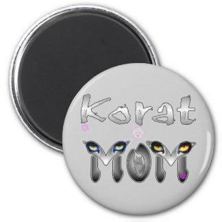 Korat Cat Mom 2 Inch Round Magnet