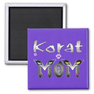 Korat Cat Mom 2 Inch Square Magnet