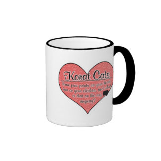 Korat Paw Prints Cat Humor Ringer Coffee Mug