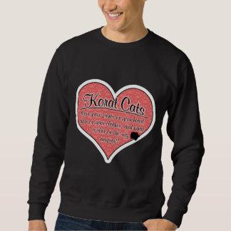 Korat Paw Prints Cat Humor Sweatshirt