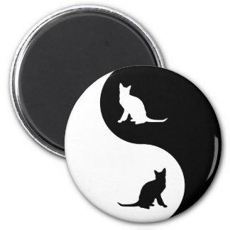 Korat Yin Yang 2 Inch Round Magnet