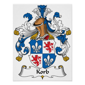 Korb Family Crest Posters