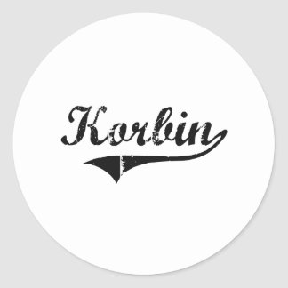 Korbin Classic Style Name Stickers