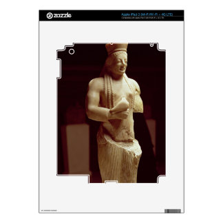Kore figure of a young female Athenian holding a b iPad 3 Decal