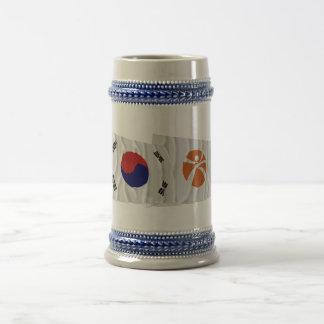 Korea and Kwangju Waving Flags Coffee Mug