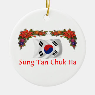 Korea Christmas Ceramic Ornament