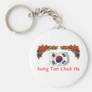 Korea Christmas Keychain