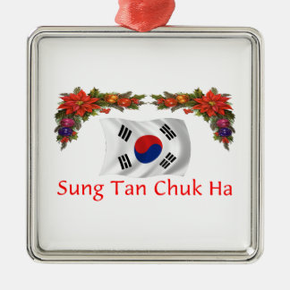Korea Christmas Metal Ornament